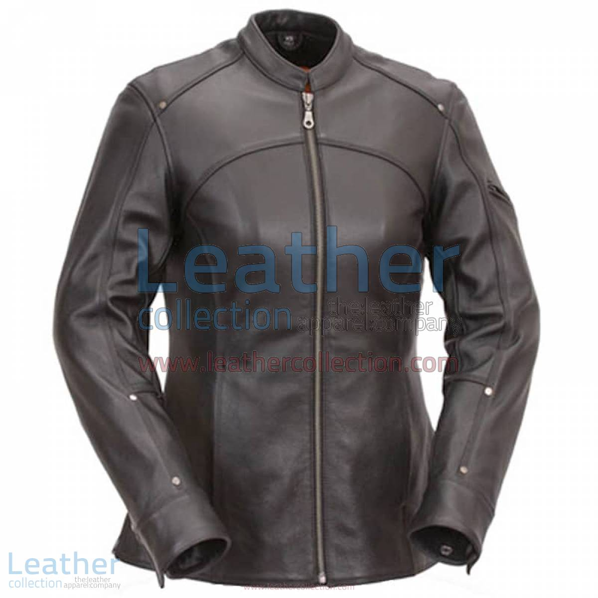 3/4 Length Touring Motorcycle Leather Jacket | 3/4 length jacket