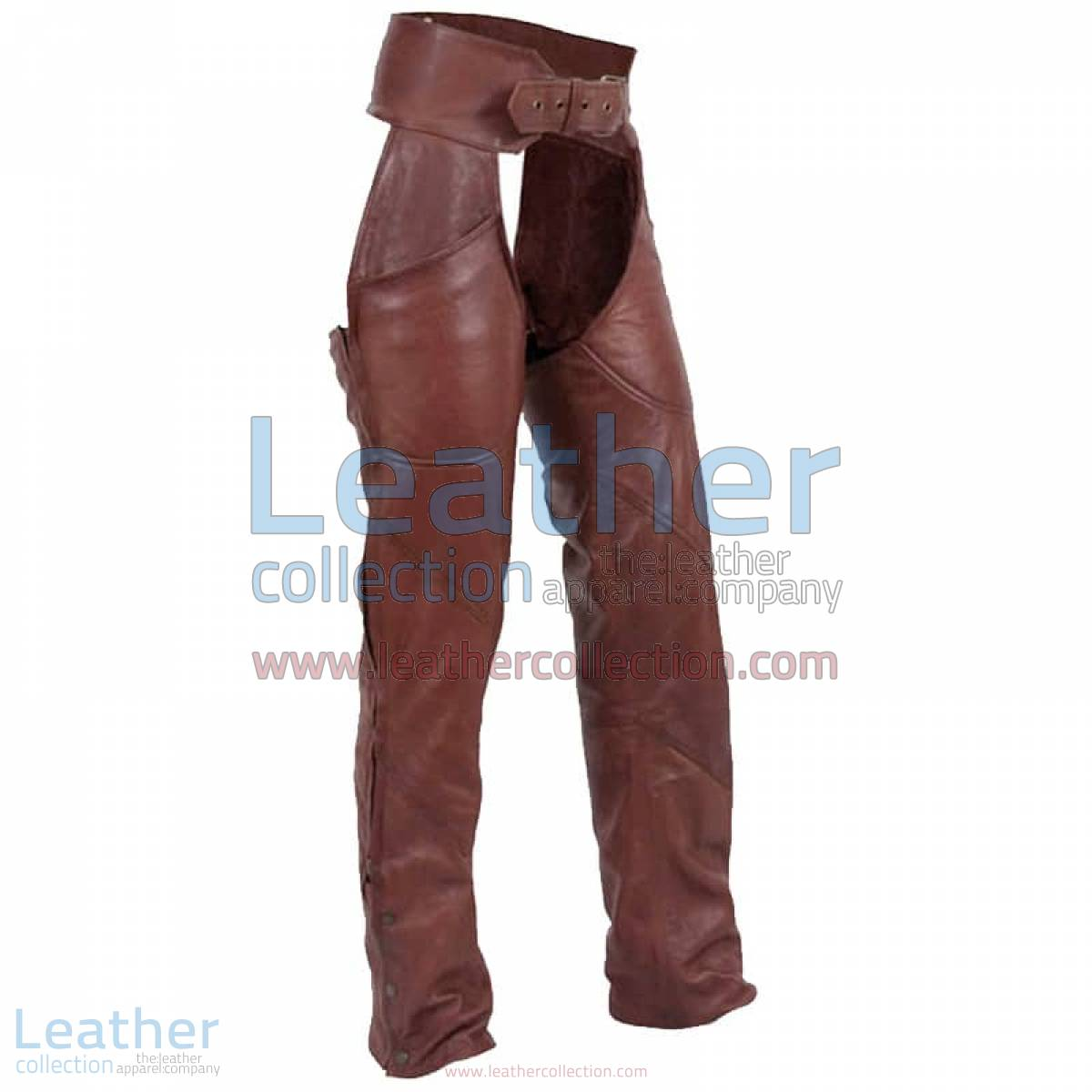 Antique Brown Leather Motorcycle Chaps | brown leather motorcycle chaps