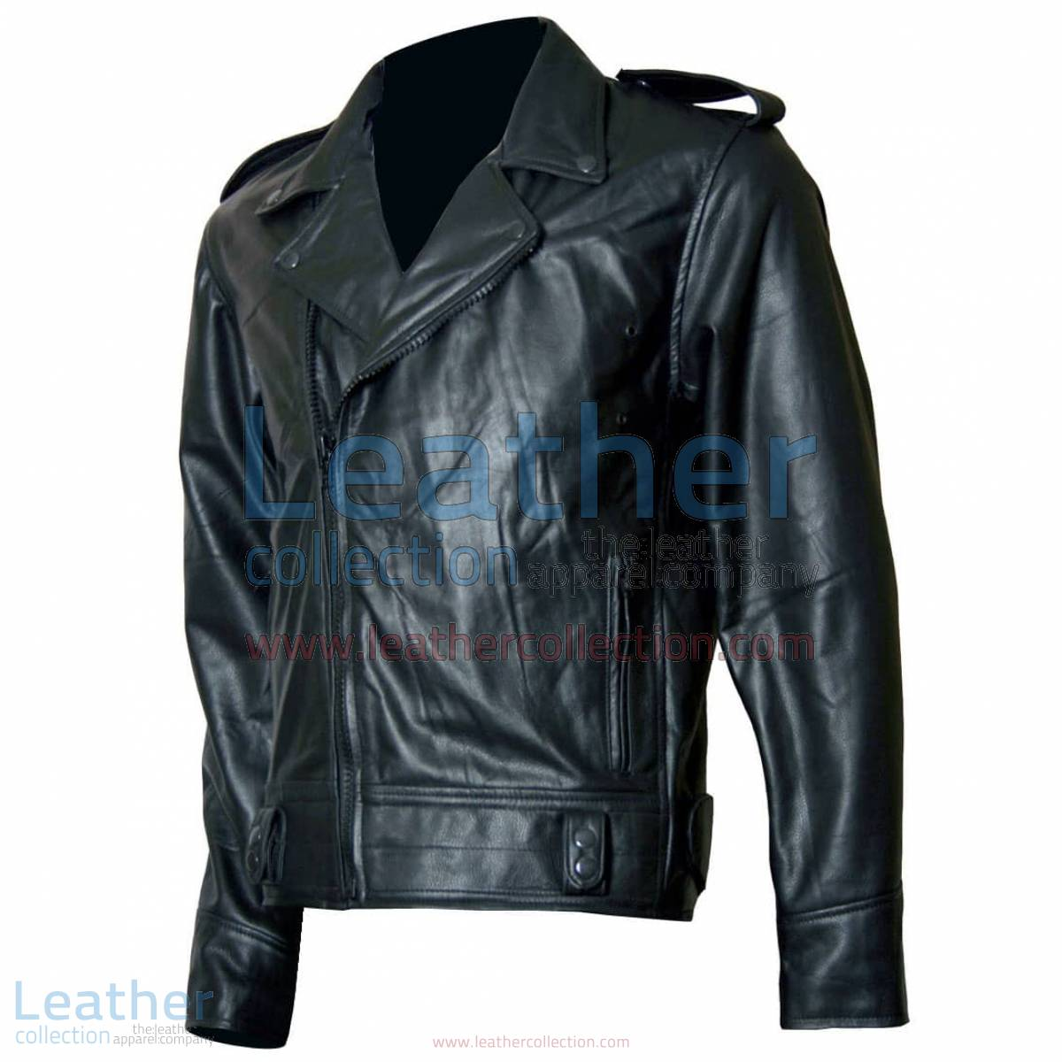 Biker Boyz Smoke Biker Black Leather Jacket | black leather jacket
