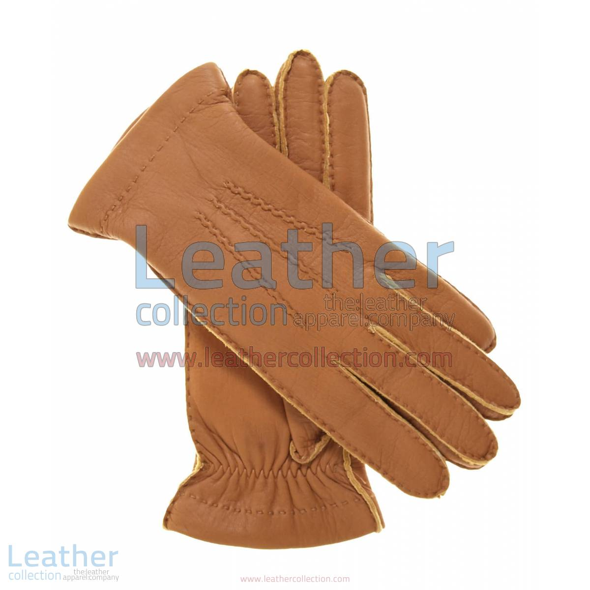 Cashmere Wool Lined Beige Lambskin Gloves | cashmere lined leather gloves