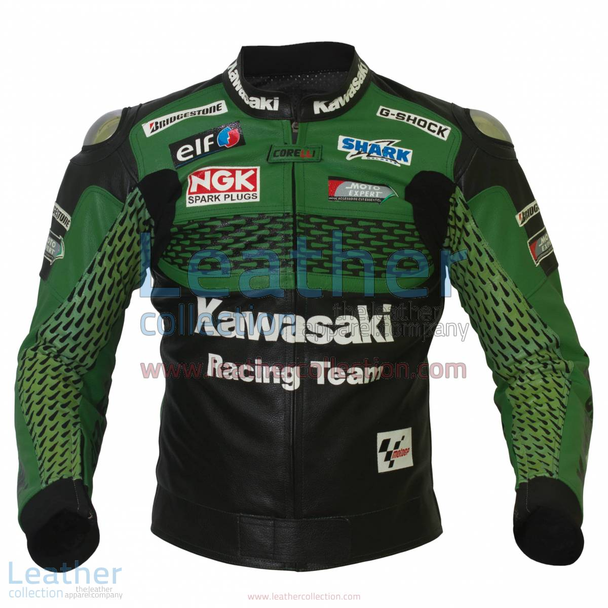 Kawasaki Racing Team Leather Jacket | kawasaki racing jacket