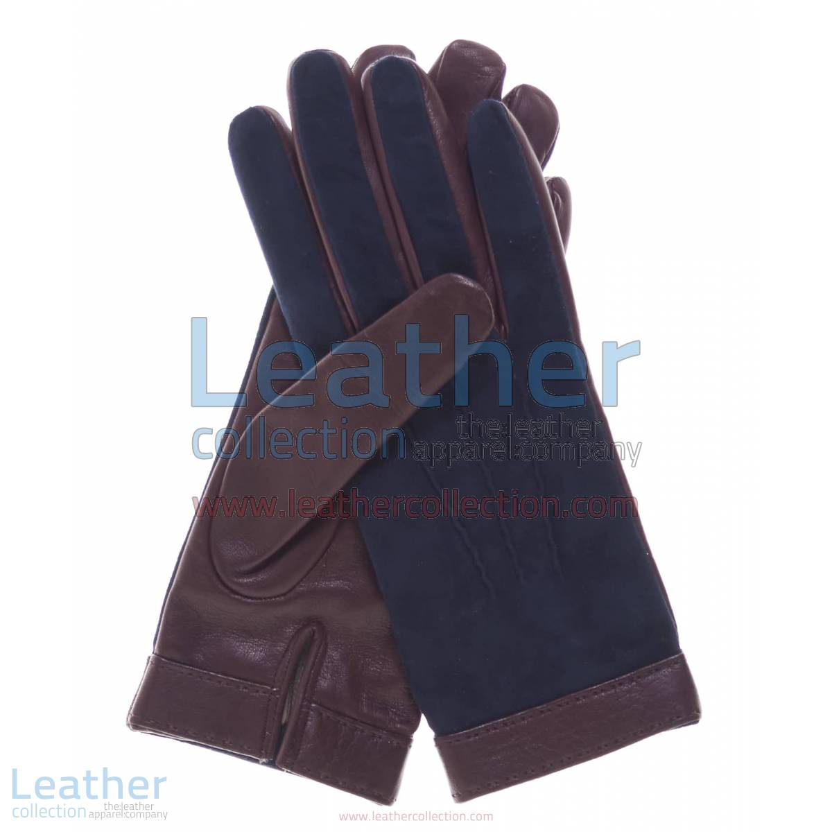 Ladies Blue Suede and Lambskin Gloves | blue suede gloves