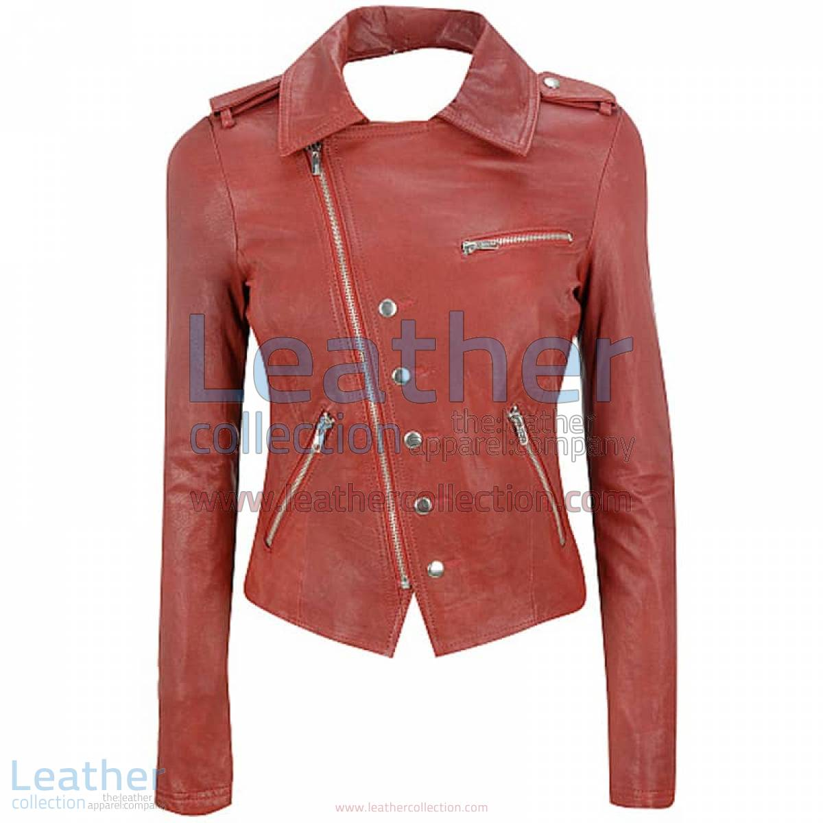 Cutaway Asymmetrical Leather Jacket Womens | asymmetrical leather jacket