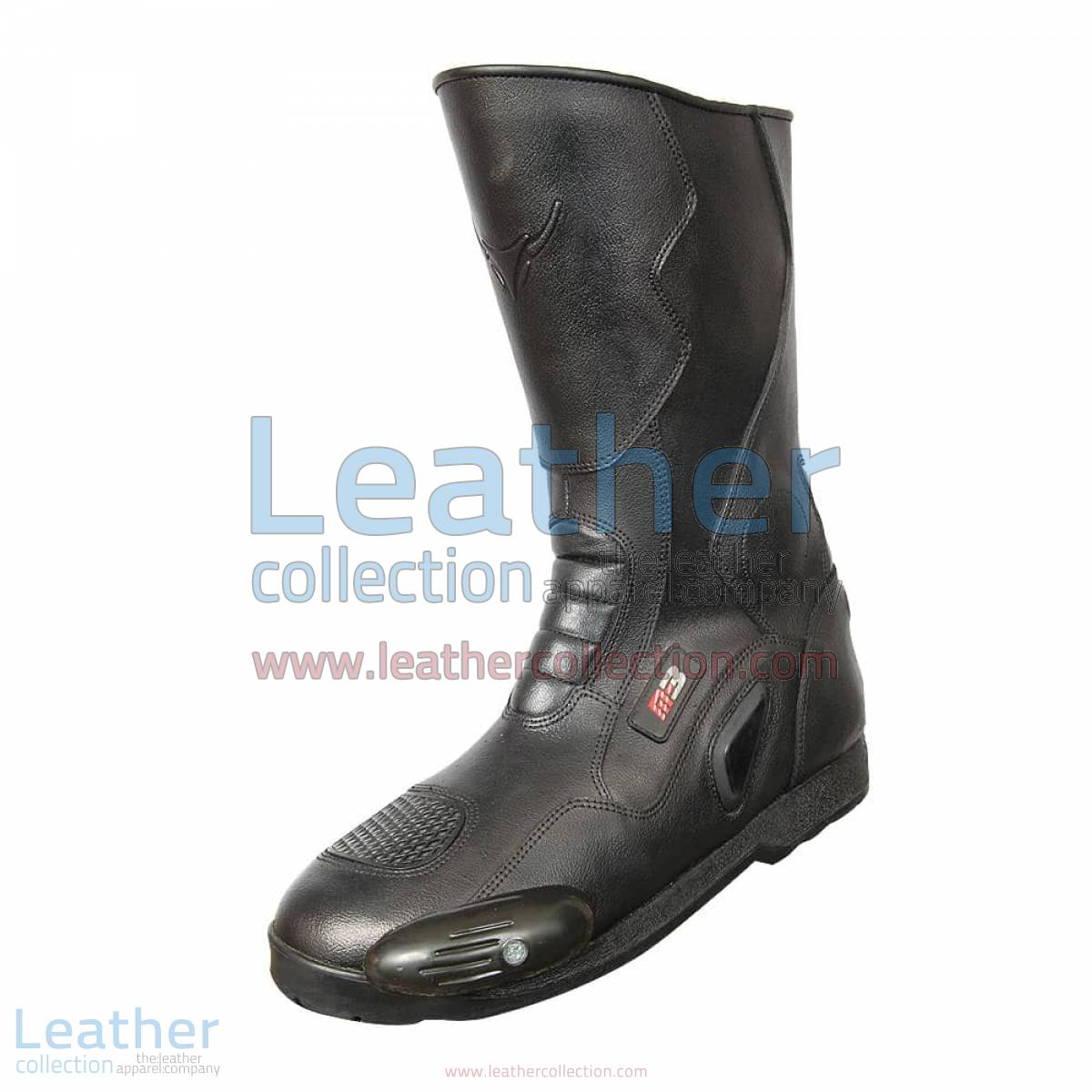 Snake Leather Moto Boots   leather moto boots