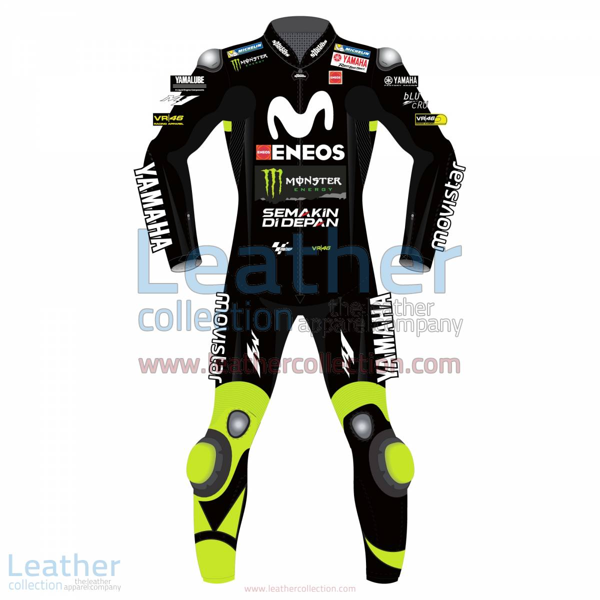 Valentino Rossi Movistar Yamaha 2018 Suit in Black | valentino rossi suit