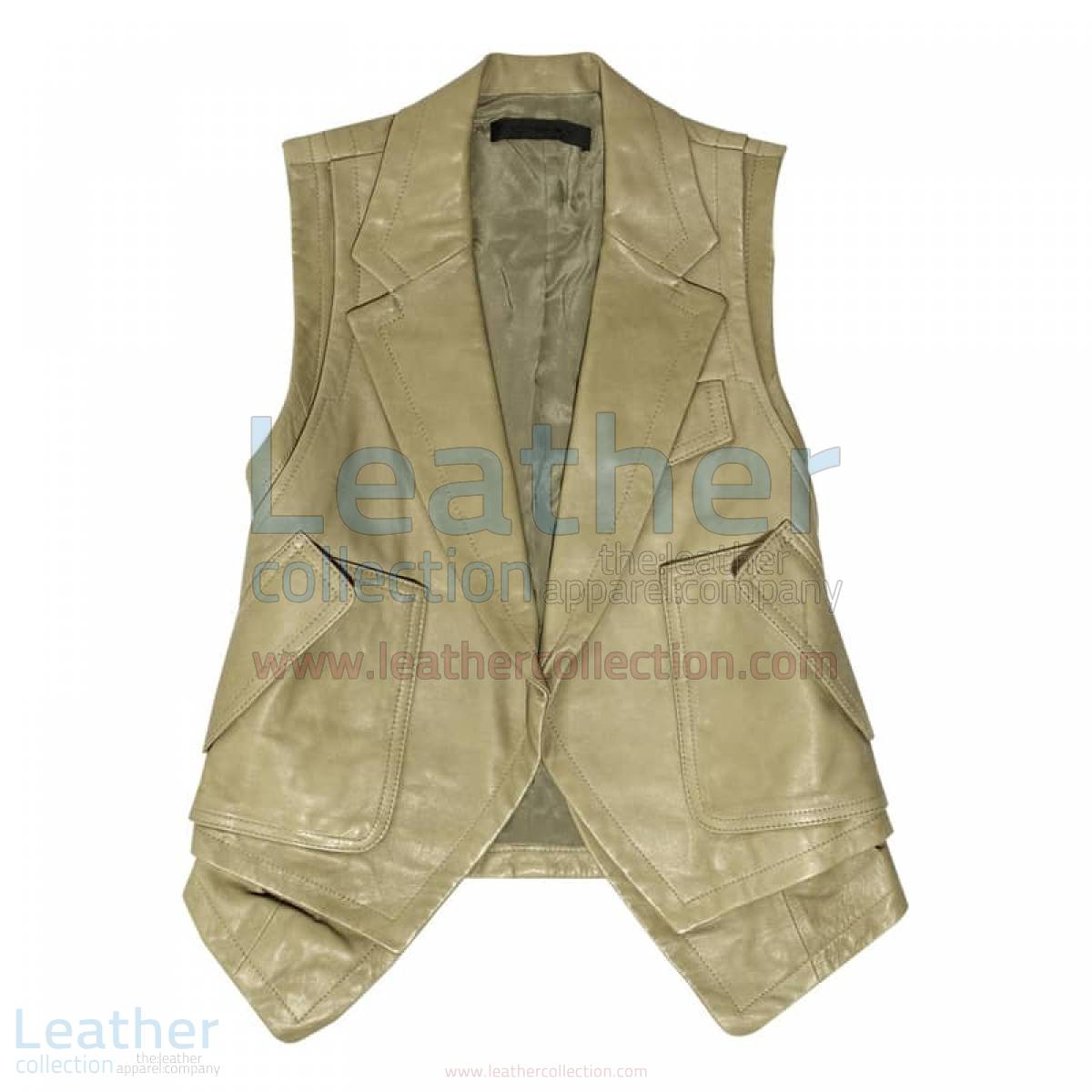 Fashion Leather Vest Coat