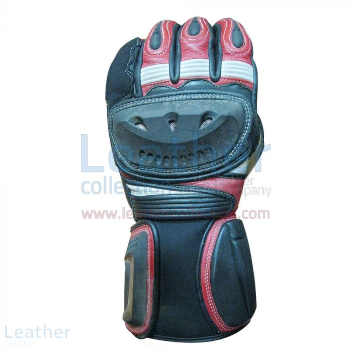 Shadow Motorbike Leather Gloves Upper View