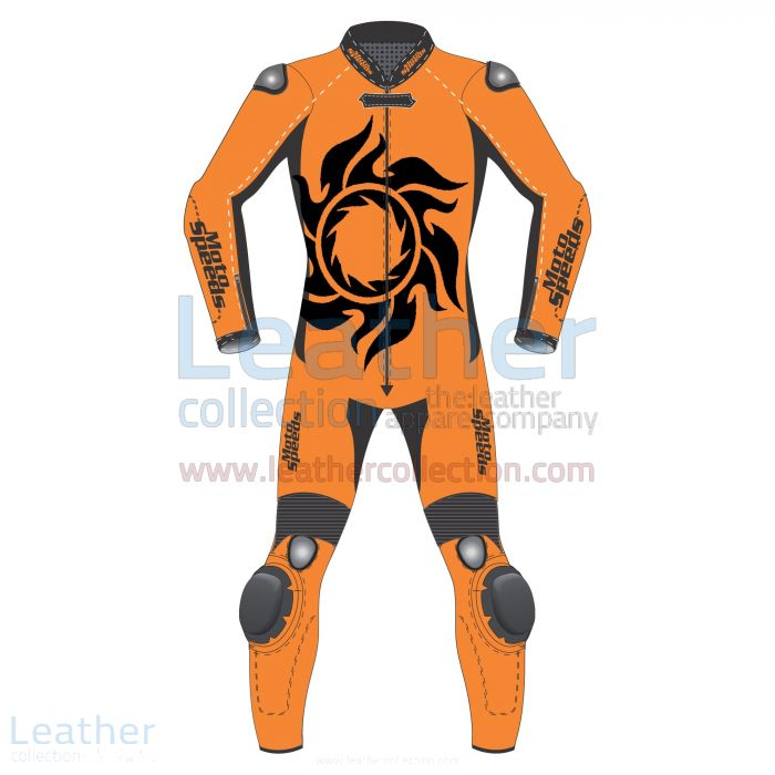 Tattoo 2 Piece Motorcycle Leathers Front View